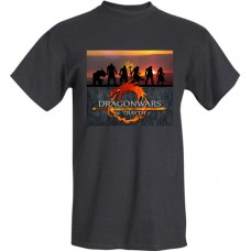 Dragonwars of Trayth Logo - Sunset